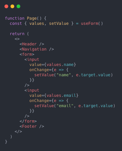 Form with useState